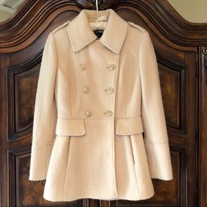 Guess Boucle' Cream Double Breasted Coat